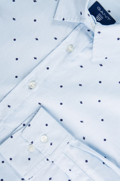 KOŠILE GANT O2. DOVE POLKADOT OXFORD STRETCH