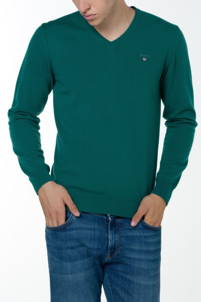 Sveter GANT O3. COLOR FRIDAY CASH BLEND V-NECK