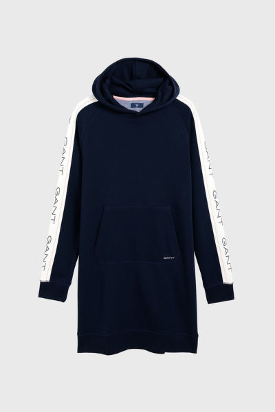 ŠATY GANT D1. . GANT ICON SWEAT HOODIE DRESS