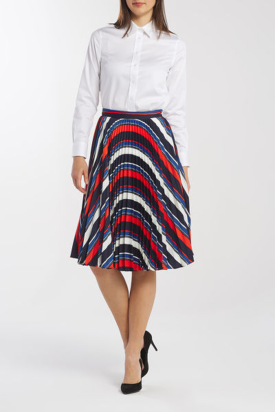 SUKŇA GANT D1. PREPPY STRIPE PLEATED SKIRT