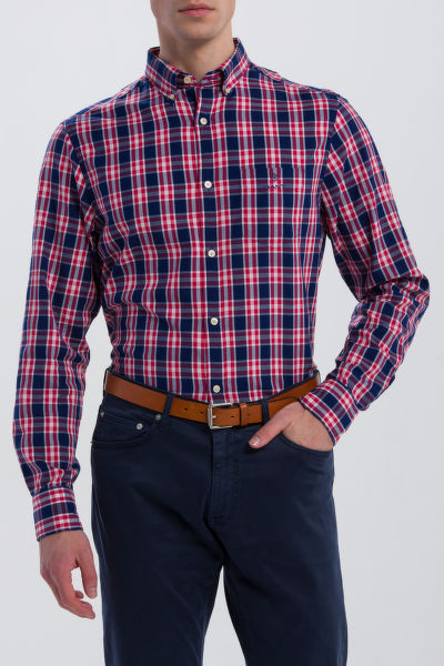 KOŠEĽA GANT O1. WINDBLOWN OXFORD PLAID REG BD