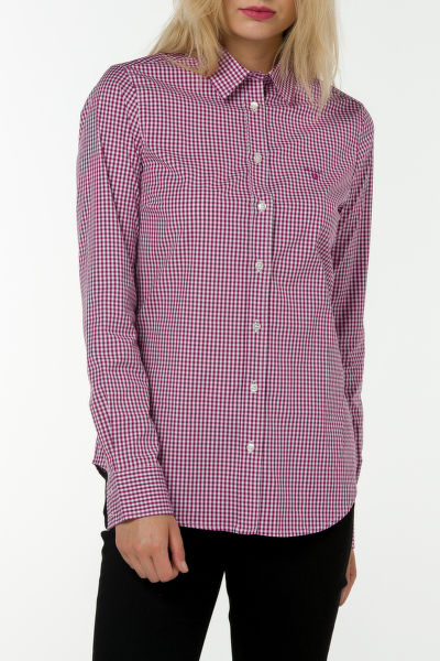 Košile GANT STRETCH BROADCLOTH GINGHAM