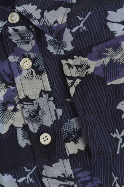 KOŠILE GANT D1. FALL BLUES COTTON SILK SHIRT