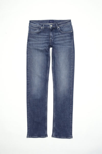 Džíny GANT O2. STRAIGHT COTTONIZED JEANS