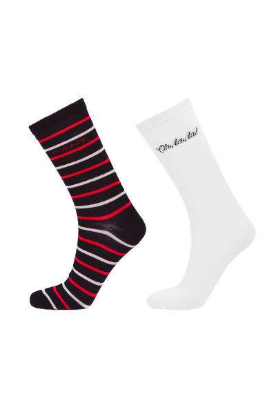 PONOŽKY GANT D1. QUOTE AND STRIPE SOCK GIFT BOX