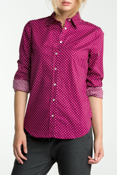 Košeľa GANT STRETCH BROADCLOTH DOT PRINT