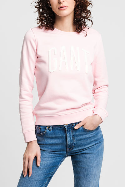 MIKINA GANT D1. LOGO C-NECK SWEAT