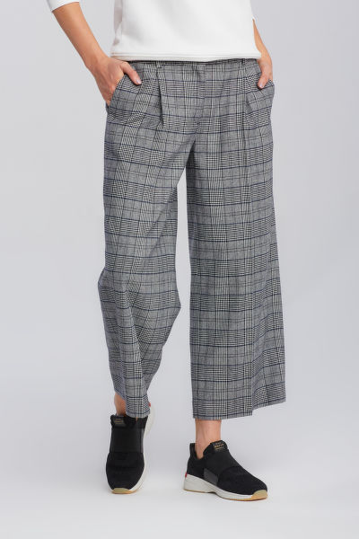 KALHOTY GANT D1. CHECKED CROPPED WIDE PANT