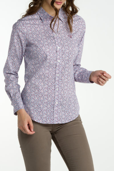 Košile GANT STRETCH BROADCLOTH DOTTY LEAF SHIRT
