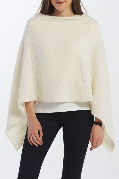 SVETER GANT D2. LAMBSWOOL CABLE PONCHO