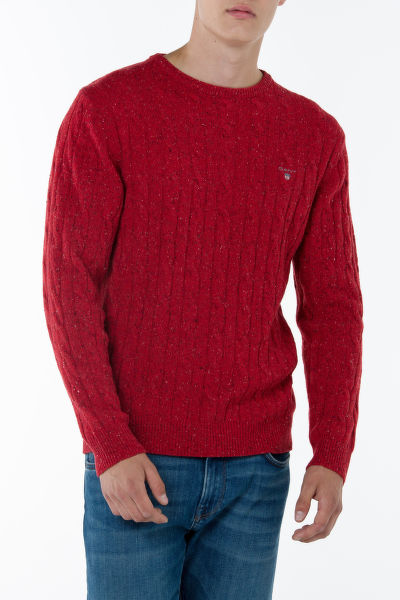 Sveter GANT O1. NEPS LAMBSWOOL CABLE CREW