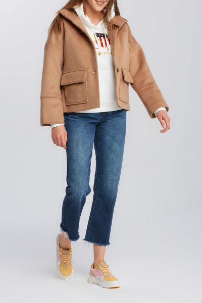 BUNDA GANT D1. WOOL BLEND CROPPED JACKET