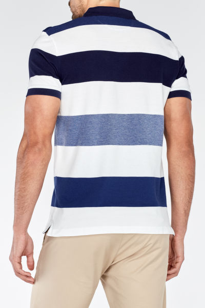 Polokošile OXFORD MULTI STRIPE SHORT SLEEVED RUGGER