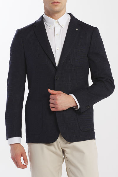 SAKO GANT D1. WASHABLE CHECK BLAZER