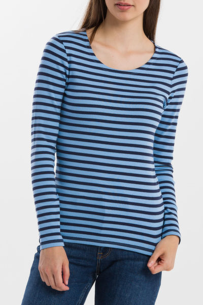TRIČKO GANT STRIPED 1X1 RIB LS T-SHIRT