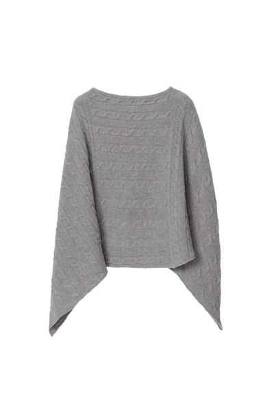 PONČO O3. LAMBSWOOL CABLE PONCHO