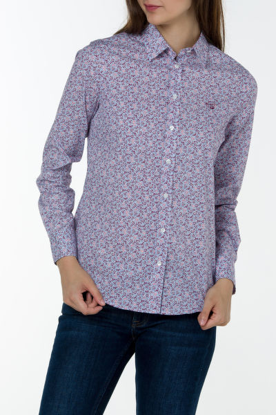 Košeľa GANT STRETCH BROADCLOTH DOTTY LEAF SHIRT