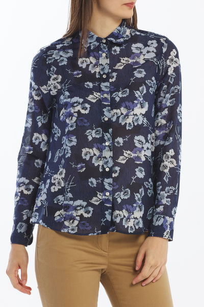 KOŠEĽA GANT D1. FALL BLUES COTTON SILK SHIRT