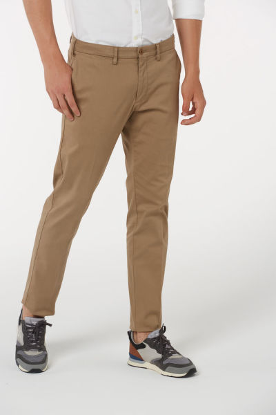 Kalhoty GANT O1. SLIM TAILORED SATIN SLACKS