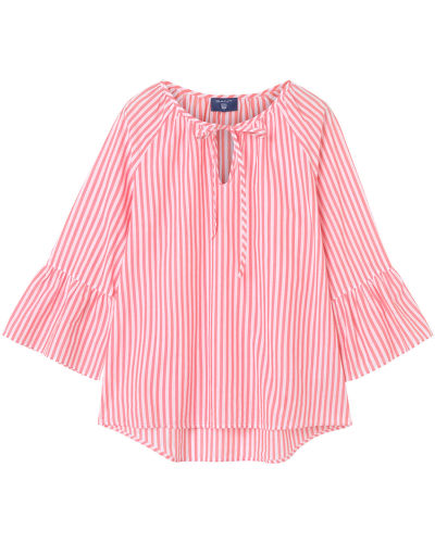 Košile GANT O2. STRIPED RUFFLED SLEEVE BLOUSE