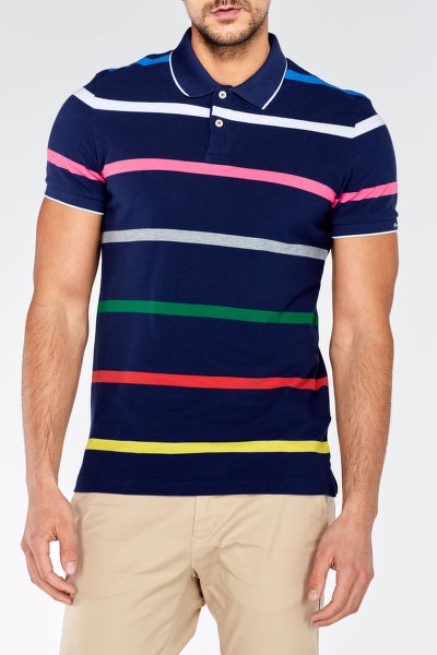 Polokošeľa MULTI STRIPE PIQUE SHORT SLEEVED RUGGER