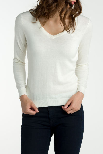Svetr GANT COTTON WOOL V-NECK