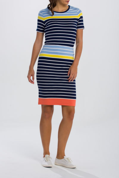 SUKN? GANT O2. MULTISTRIPED SKIRT