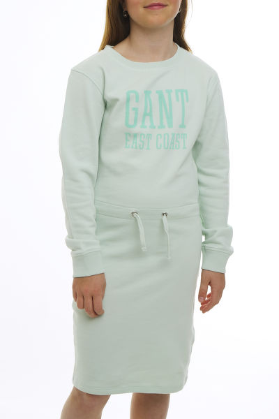 ŠATY GANT TG SUN FADED C-NECK SWEAT DRESS