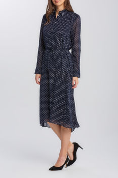 ŠATY GANT D2. FAIRLY DOT CHIFFON DRESS