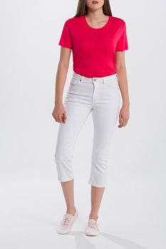 DŽÍNSY GANT O1. SLIM WHITE CAPRI DENIM