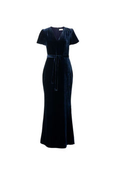 ŠATY GANT G1. FULL LENGTH VELVET DRESS
