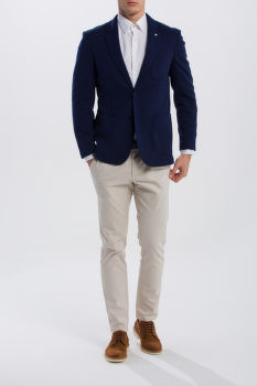 SAKO GANT O1. THE COTTON PIQUE SUIT JKT