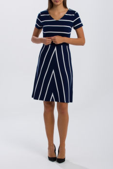 ŠATY GANT O2. STRIPED FLARED DRESS