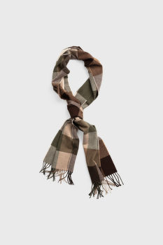 ŠÁL GANT D2. MULTI CHECK WOOL SCARF