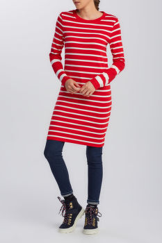 ŠATY GANT D1. DETAIL STRIPE JERSEY DRESS