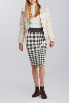 SUKŇA GANT D2. CHECKED KNITTED SKIRT