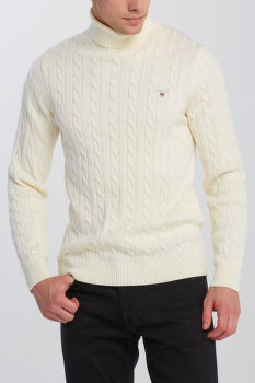 SVETER GANT COTTON CABLE TURTLE NECK