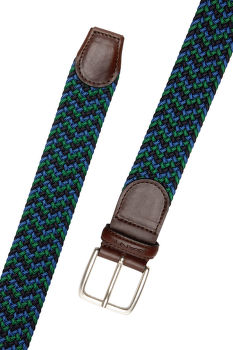 OPASOK GANT D1. PATTERNED ELASTIC BRAID BELT