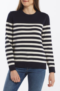 SVETER GANT D1. STRIPED COTTON CREW