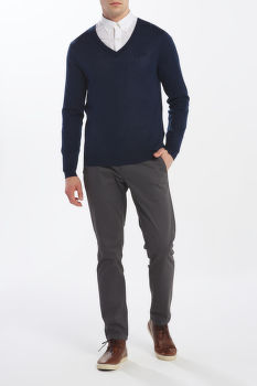 SVETER GANT D1. WASHABLE MERINO V-NECK