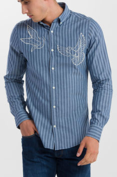 KOŠEĽA GANT R1. THE EMBROIDERED DOVES SLIM BD
