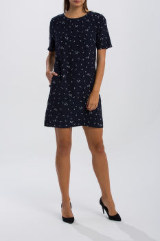 ŠATY GANT O1. MICROFLOWER PRINT DRESS