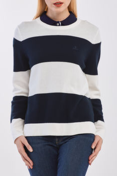 SVETER GANT COTTON PIQUE BLOCK STRIPE