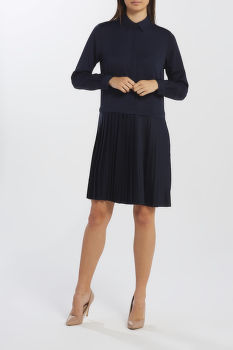 ŠATY GANT D2. PLISSE SHIRT DRESS