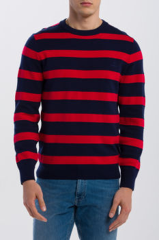 SVETER GANT O1. KNITTED STRIPED CREW