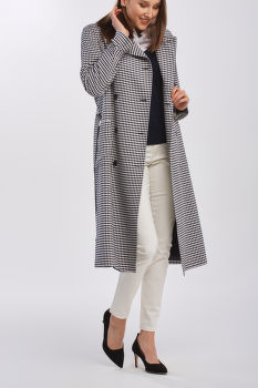 KABÁT GANT D1. GINGHAM FLUID TRENCH COAT