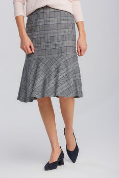 SUKŇA GANT D1. CHECKED FLARE SKIRT
