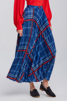 SUKŇA GANT D1. SIGNATURE WEAVE PLEATED SKIRT