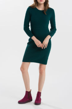 ŠATY GANT STRETCH COTTON CABLE DRESS