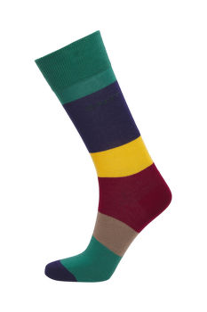 PONOŽKY GANT D1. COLOR BLOCK SOCKS